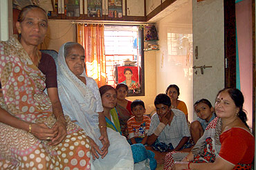From left Harish's mother Damayantiben, grandmother, cousin Preeti and other members of the Gohil family at their Colaba house