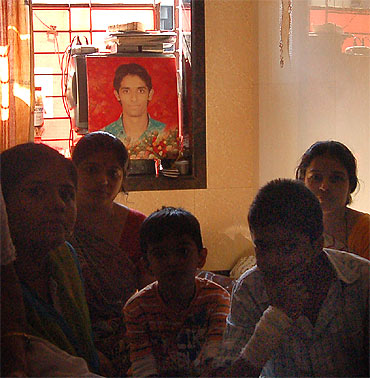 The Gohil family recalls fond memories with Harish (picture in background)