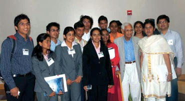 Students from India visiting Dr Har Gobind Khorana
