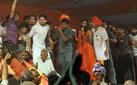 'Teargas shells were fired only after Ramdev's supporters turned violent'