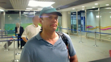 This photo was taken July 1, 2008, by Mumbai airport security cameras upon Headley's arrival in the city