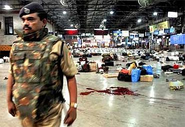 Mumbai's Chhatrapati Shivaji Terminus soon after the carnage on November 26, 2008