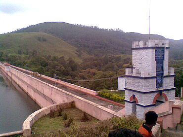 The Mullaperiyar dam in Kerala
