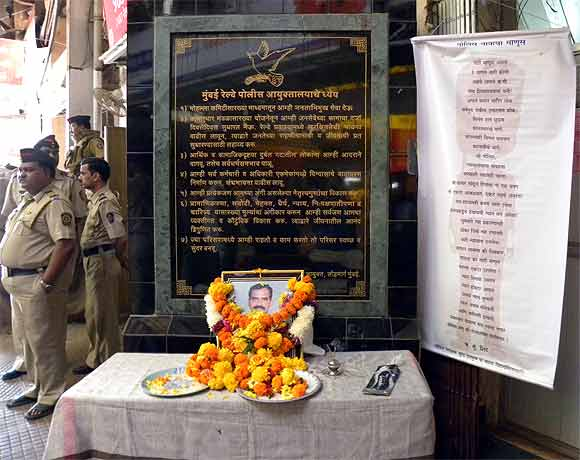 The 26/11 memorial at CST station