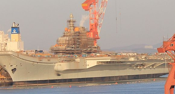 China's aircraft carrier out for weapons check