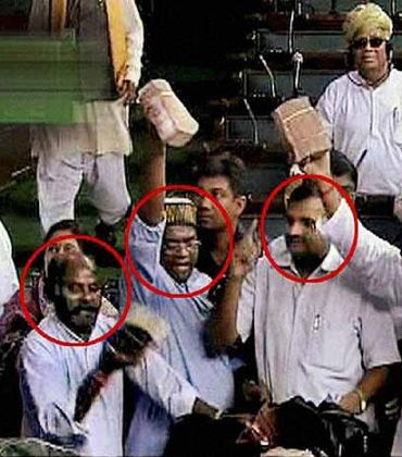 BJP MPs waving wads of currency in Parliament during the trust vote