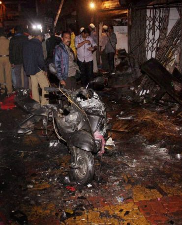The Honda Activa scooter used for the Zaveri Bazaar bombing
