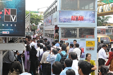 Commuters were a harried lot in Mumbai on Monday