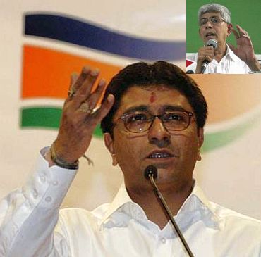 Raj Thackeray (Inset) Sharad Rao