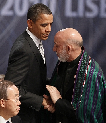 US President Barack Obama with Karzai