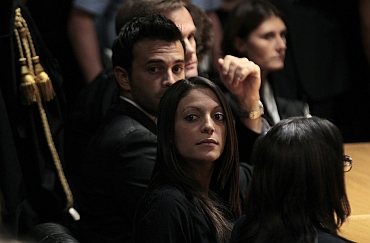 Meredith Kercher's sister Stephanie during the appeal trial of Amanda Knox in Perugia