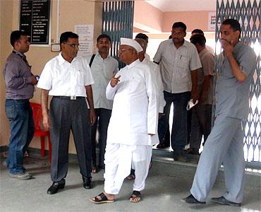 Hazare at Ralegan Siddhi