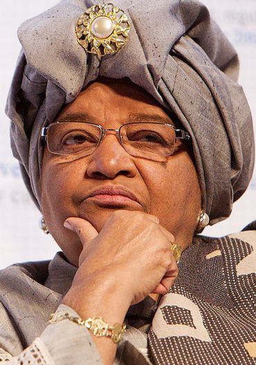 Nobel laureate Liberian President Ellen Johnson Sirleaf
