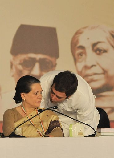 Congress president Sonia Gandhi and Rahul Gandhi