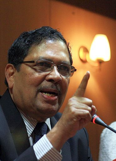 Joint Lokpal drafting committee member and former Karnataka Lokayukta Justice Santosh Hegde