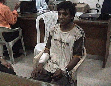 Kasab during his interrogation