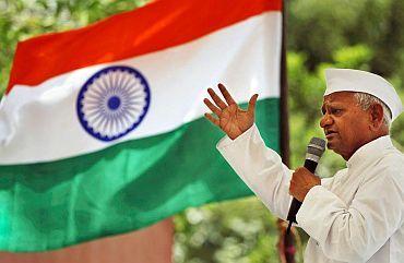 Veteran activist Anna Hazare