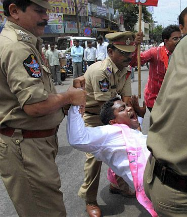 'They are not going to get Telangana by going on a strike'