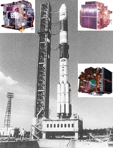 PSLV C-1 (Inset Left) IRS-1E (Inset Right) IRS-P2, IRS-P3