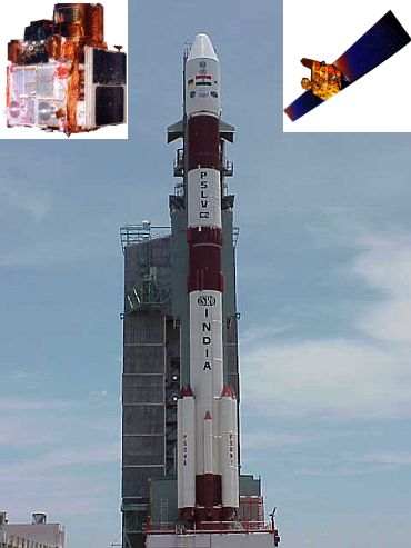 PSLV C-2 (Inset right) IRS-1D, IRS-P4