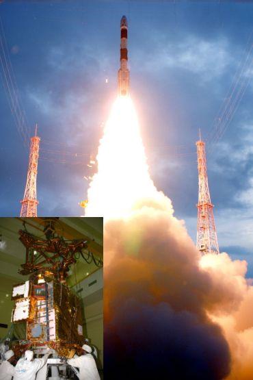 PSLV C-11 (Inset) Chandrayaan-I