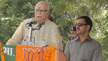 Advani's yatra reached Uttar Pradesh on Thursday