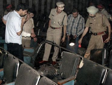 File photo of the Shringar cinema bombing in Ludhiana