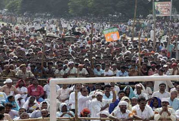 At L K Advani's Jan Chetna Yatra