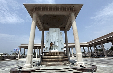 The Dalit memorial park in Noida was inaugurated by Mayawati