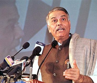 Former finance minister and senior BJP leader Yashwant Sinha