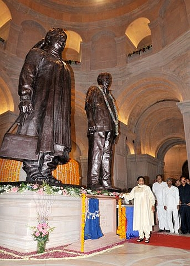 Mayawati at the inauguration of the Dalit memorial