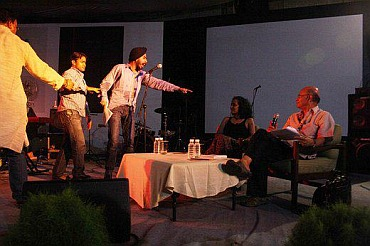 Bagga at an Arudhati Roy function