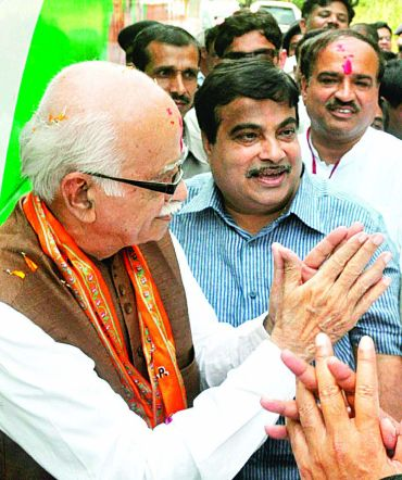Advani's Jan Chetna Yatra reaches Nagpur