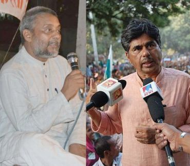 (Left) Rajendra Singh (Right) P V Rajagopal