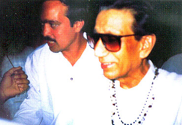 Sarhad' founder Sanjay Nahar with Shiv Sena patriarch Bal Thackeray