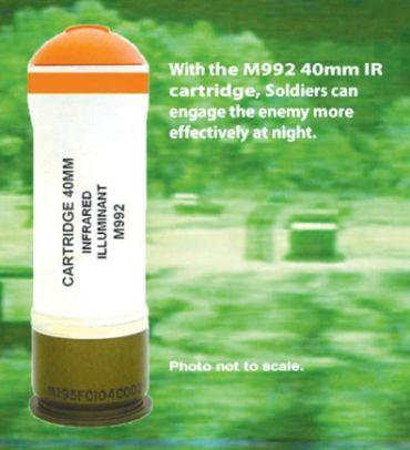 40mm Infrared Illuminant Cartridge, M992