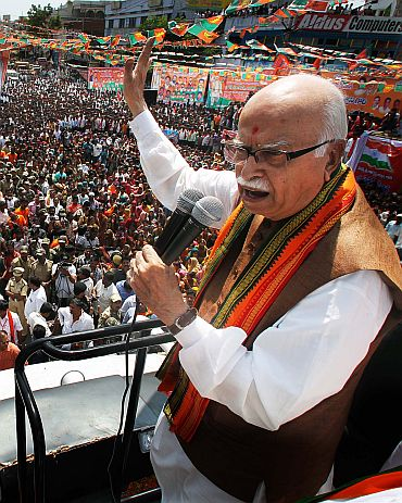 Advani on his Jan Chetna Yatra