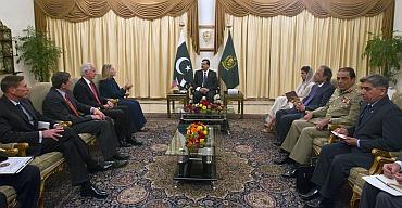 U S Secretary of State Hillary Clinton meet Pakistan