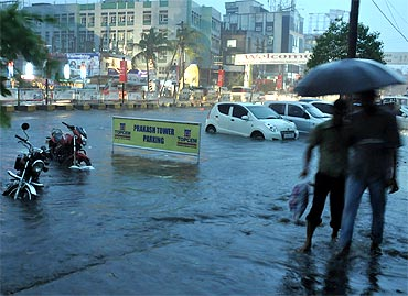 In PHOTOS: Flash floods hit Guwahati, one feared dead