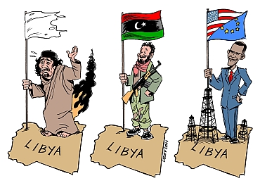 Brazilian cartoonist Carlos Latuff takes a wry look at Libya