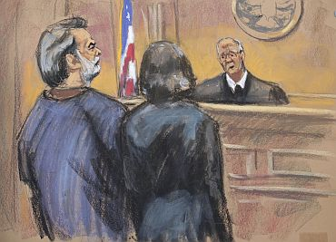 Manssor Arbabsiar is shown in this courtroom sketch during an appearance in a Manhattan Federal Court in New York