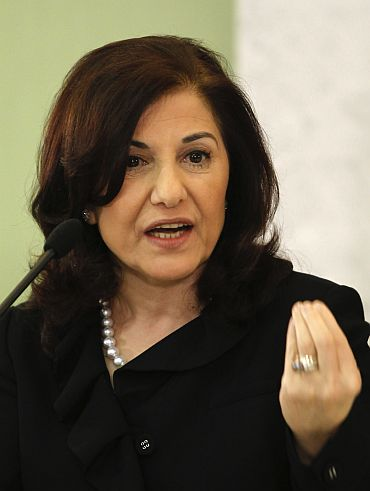 File picture of Bouthaina Shaaban