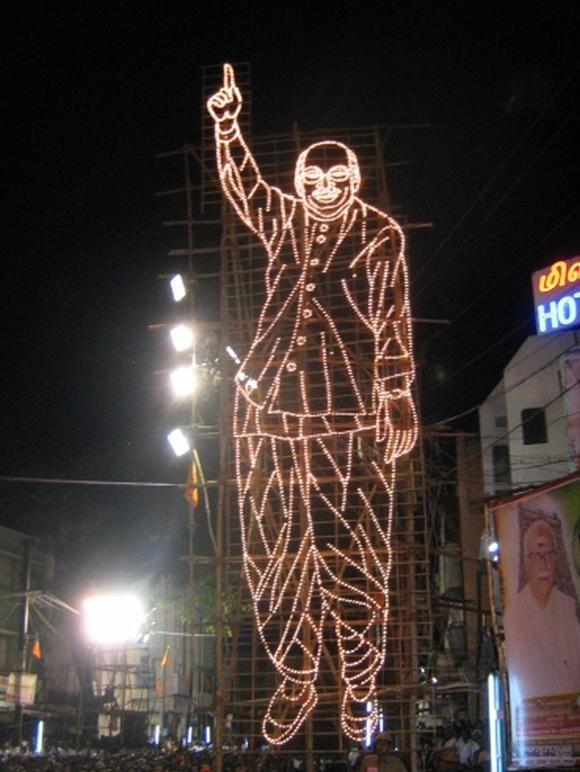 At L K Adavani's Jan Chetana Yatra in Madurai