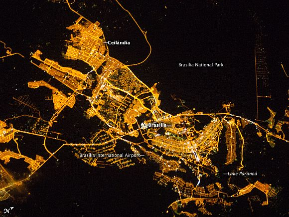 Sparkling PHOTOS of cities from the night sky