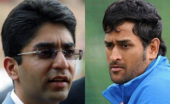 Indian cricket captain Mahendra Singh Dhoni and Olympic Gold Medallist Abhinav Bindra