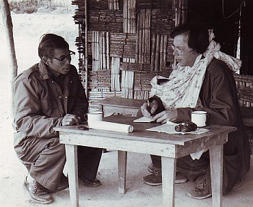 Lintner interviewing the chairman of the NSCN-IM, Isak Chisi Swu