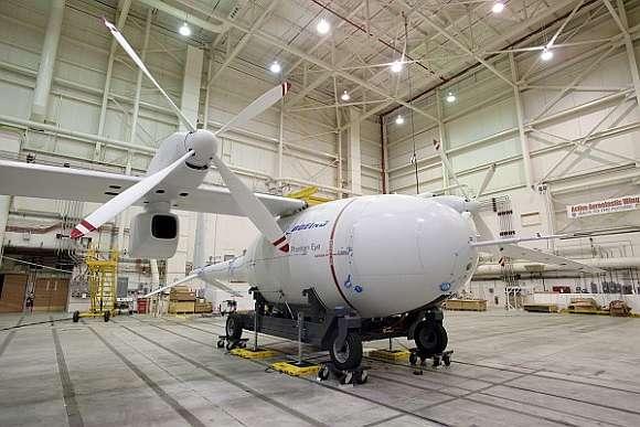 Teh Phantom Eye in a hangar
