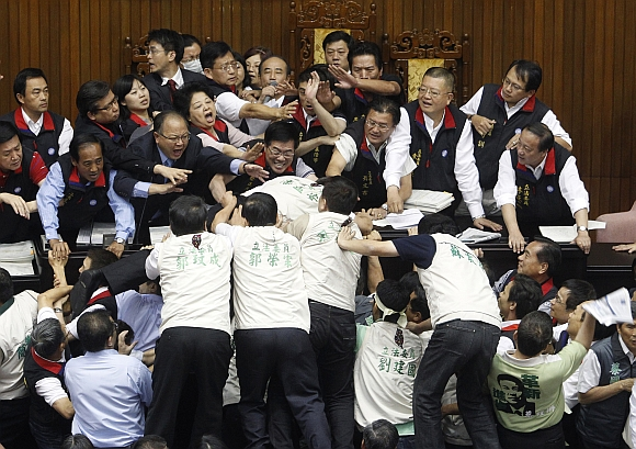 The wildest Parliament fights of all time