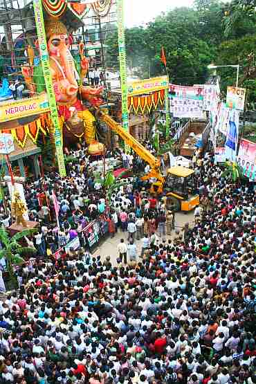 Thousands of devotees gathered to watch the ceremony