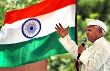 Anna Hazare protests in New Delhi